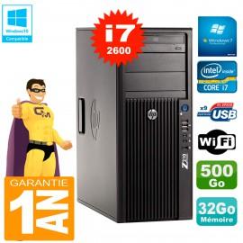 PC HP WorkStation Z210 Tour Core i7-2600 RAM 32Go 500Go Graveur DVD Wifi W7