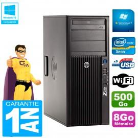 PC HP WorkStation Z210 Tour Xeon E3-1240 RAM 8Go 500Go Graveur DVD Wifi W7