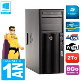 PC HP WorkStation Z210 Tour Xeon E3-1240 RAM 8Go 2To Graveur DVD Wifi W7