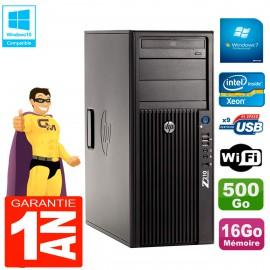 PC HP WorkStation Z210 Tour Xeon E3-1240 RAM 16Go 500Go Graveur DVD Wifi W7