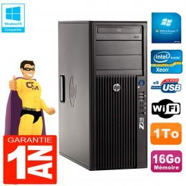 PC HP WorkStation Z210 Tour Xeon E3-1240 RAM 16Go 1To Graveur DVD Wifi W7