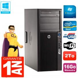 PC HP WorkStation Z210 Tour Xeon E3-1240 RAM 16Go 2To Graveur DVD Wifi W7