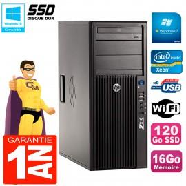 PC HP WorkStation Z210 Tour Xeon E3-1240 RAM 16Go SSD 120Go Graveur DVD Wifi W7