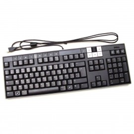 Clavier PC Multimédia AZERTY USB DELL Y-U0003-DEL5 0W312D W312D Hub Noir NEUF
