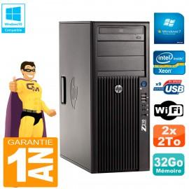 PC HP WorkStation Z210 Tour Xeon E3-1240 RAM 32Go 2 x 2To Graveur DVD Wifi W7
