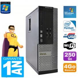 PC Dell 3010 SFF Intel G640 RAM 4Go Disque Dur 250Go Graveur DVD Wifi Win XP Pro