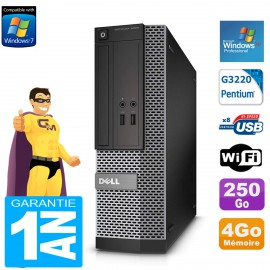 PC DELL 3020 SFF Intel G3220 Ram 4Go Disque 250 Go DVD Wifi Windows XP Pro