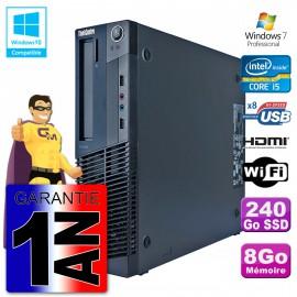 Lenovo PC M91p SFF Intel I5-2400 8Go DDR3 SSD 240Go Wifi W7 (Reconditionné Certifié) Cover