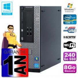 Dell PC 3010 SFF Intel I7-3770 8Go DDR3 SSD 240Go Wifi W7 HDMI (Reconditionné Certifié) Cover