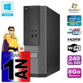Dell PC 3020 SFF Intel I5-4570 8Go DDR3 SSD 240Go Wifi W7 (Reconditionné Certifié)