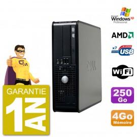 PC DELL 740 SFF AMD Athlon 64 RAM 4Go Disque Dur 250Go WIFI DVD Windows XP Pro