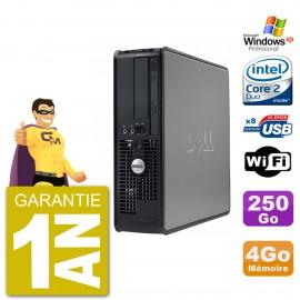 PC DELL 755 SFF Intel E6750 RAM 4Go Disque 250Go Graveur DVD Wifi Windows XP Pro