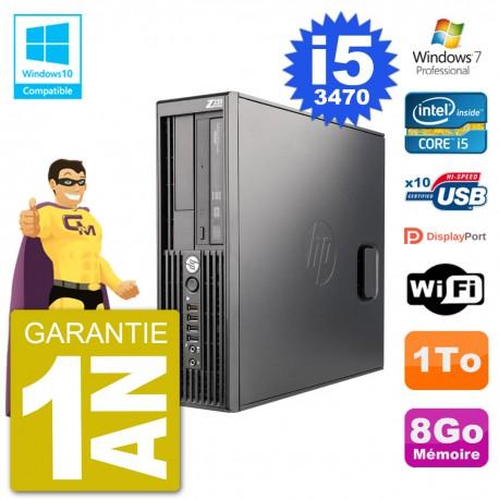 PC HP WorkStation Z220 SFF Core i5-3470 RAM 8Go Disque 1To Graveur DVD Wifi W7