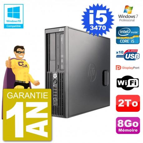 PC HP WorkStation Z220 SFF Core i5-3470 RAM 8Go Disque 2To Graveur DVD Wifi W7
