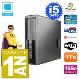 PC HP WorkStation Z220 SFF Core i5-3470 RAM 16Go Disque 1To Graveur DVD Wifi W7