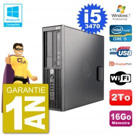 PC HP WorkStation Z220 SFF Core i5-3470 RAM 16Go Disque 2To Graveur DVD Wifi W7