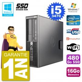 PC HP WorkStation Z220 SFF Core i5-3470 RAM 16Go SSD 480Go Graveur DVD Wifi W7