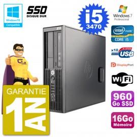 PC HP WorkStation Z220 SFF Core i5-3470 RAM 16Go SSD 960Go Graveur DVD Wifi W7