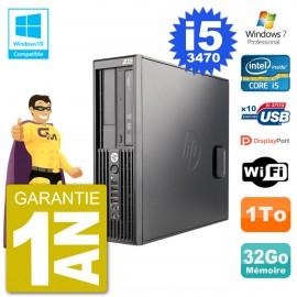 PC HP WorkStation Z220 SFF Core i5-3470 RAM 32Go Disque 1To Graveur DVD Wifi W7
