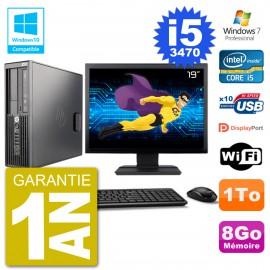 "PC HP Z220 SFF Ecran 19"" Core i5-3470 RAM 8Go Disque 1To Graveur DVD Wifi W7"