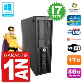 PC HP WorkStation Z220 SFF Core i7-3770 RAM 8Go Disque 1To Graveur DVD Wifi W7