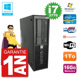 PC HP WorkStation Z220 SFF Core i7-3770 RAM 16Go Disque 1To Graveur DVD Wifi W7