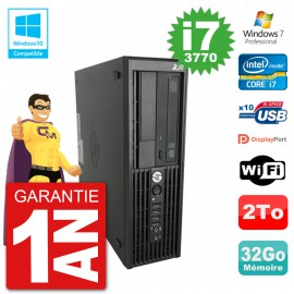 PC HP WorkStation Z220 SFF Core i7-3770 RAM 32Go Disque 2To Graveur DVD Wifi W7