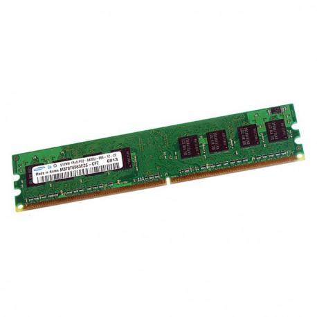 Ram Barrette Mémoire SAMSUNG 512Mo DDR2 PC2-6400U 800Mhz M378T6553EZS-CF7 CL6