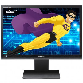 "Ecran 22"" SAMSUNG SyncMaster SA450 S22A450MW VGA DVI Audio VESA 16:10"