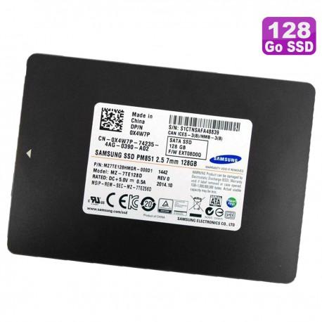 """SSD 128Go 2.5"""" Samsung MZ-7TE128D MZ7TE128HMGR-000D1 0X4W7P X4W7P Disque Dur"""