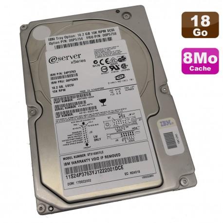 """Disque Dur 18.2Go SCSI 3.5"""" IBM eServer xSeries ST318307LC 24P3763 06P5369 80Pin"""