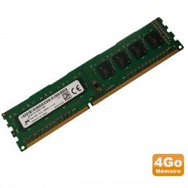 4Go RAM PC Bureau MICRON MT8KTF51264AZ-1G6E1 DDR3 PC3-12800U 1Rx8 1600Mhz CL11