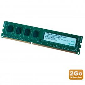 2Go RAM PC Bureau Apacer AU02GFA33C9NBGC DDR3 PC3-10600U 2Rx8 1333Mhz 1.5v CL9