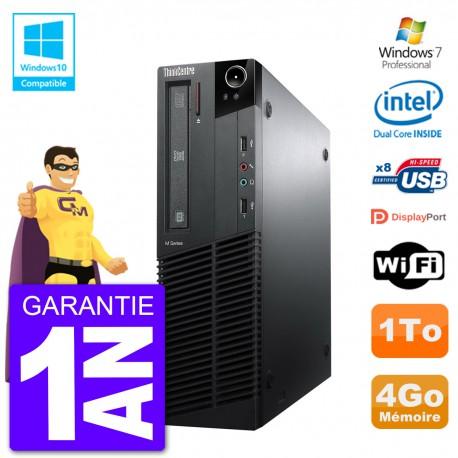 PC Lenovo ThinkCentre M82 SFF G640 RAM 4Go Disque Dur 1To Graveur DVD Wifi W7
