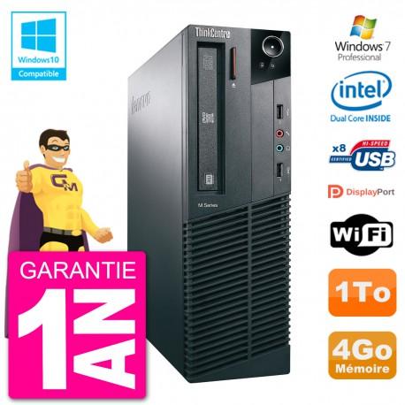 PC Lenovo ThinkCentre M82 SFF G2020 RAM 4Go Disque Dur 1To Graveur DVD Wifi W7