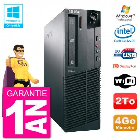 PC Lenovo ThinkCentre M82 SFF G2020 RAM 4Go Disque Dur 2To Graveur DVD Wifi W7