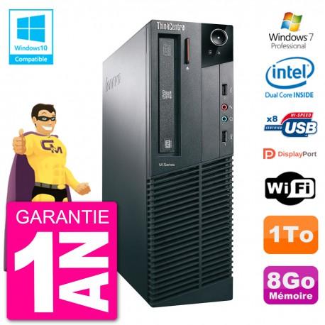 PC Lenovo ThinkCentre M82 SFF G2020 RAM 8Go Disque Dur 1To Graveur DVD Wifi W7