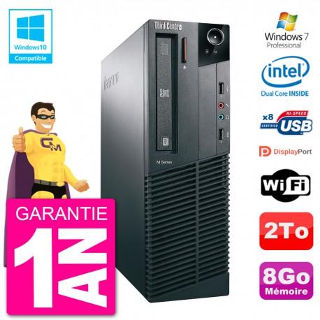 PC Lenovo ThinkCentre M82 SFF G2020 RAM 8Go Disque Dur 2To Graveur DVD Wifi W7