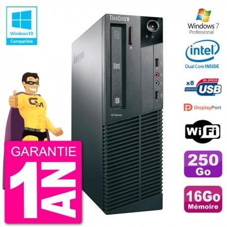 PC Lenovo ThinkCentre M82 SFF G2020 RAM 16Go Disque Dur 250Go Graveur DVD Wifi W7