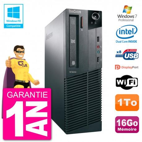 PC Lenovo ThinkCentre M82 SFF G2020 RAM 16Go Disque Dur 1To Graveur DVD Wifi W7