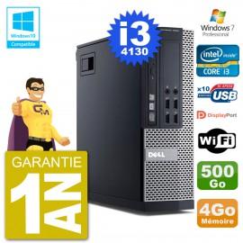 PC Dell 9020 SFF Intel i3-4130 RAM 4Go Disque 500Go Graveur DVD Wifi W7