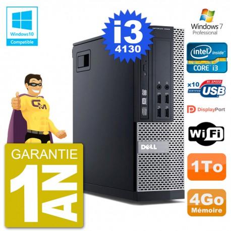 PC Dell 9020 SFF Intel i3-4130 RAM 4Go Disque 1To Graveur DVD Wifi W7