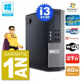 PC Dell 9020 SFF Intel i3-4130 RAM 4Go Disque 2To Graveur DVD Wifi W7
