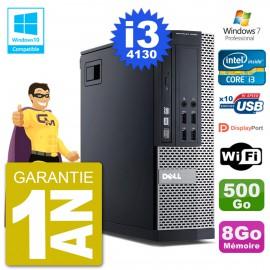 PC Dell 9020 SFF Intel i3-4130 RAM 8Go Disque 500Go Graveur DVD Wifi W7