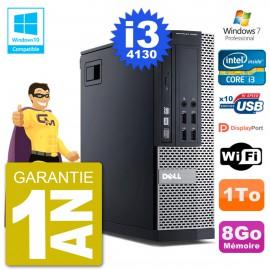 PC Dell 9020 SFF Intel i3-4130 RAM 8Go Disque 1To Graveur DVD Wifi W7