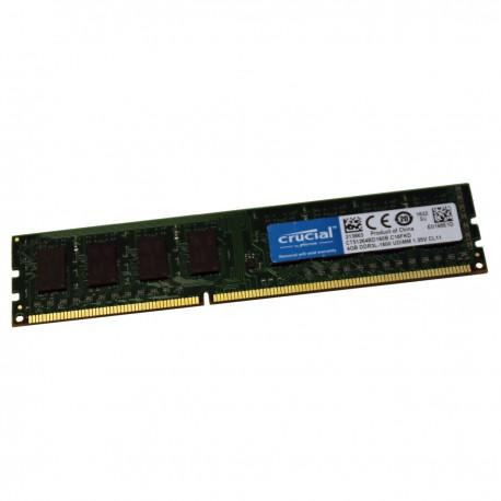 4Go RAM Crucial CT51264BD160B.C16FKD DDR3 PC3L-12800U 240-PIN 1600Mhz 1.35v CL11