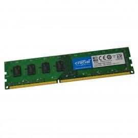 4Go RAM Crucial CT51264BD160B.C16FN2 DDR3 PC3L-12800U 240-PIN 1600Mhz 1.35v CL11