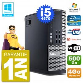 PC Dell 9020 SFF Intel i5-4570 RAM 4Go Disque 500Go Graveur DVD Wifi W7