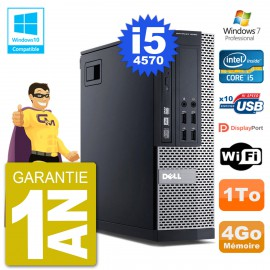 PC Dell 9020 SFF Intel i5-4570 RAM 4Go Disque 1To Graveur DVD Wifi W7