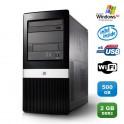 PC HP COMPAQ DX2400 Core 2 Duo E7200 2.53Ghz 2Go DDR2 500Go WIFI Win XP PRO